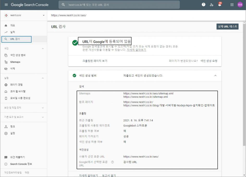 구글-search-console-url검사